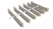 "Load image into Gallery viewer, Skyline Building Solutions Strongback Joist Reinforcer - 14Ga - 9.25"" x 48"""