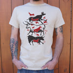 Cave Art Bulls Lascaux T-Shirt (Mens) - Twin Carbon Clothing Co.