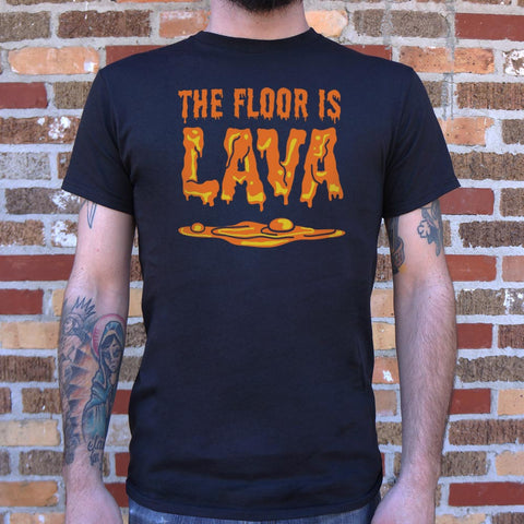 The Floor Is Lava  T-Shirt (Mens) - Twin Carbon Clothing Co.