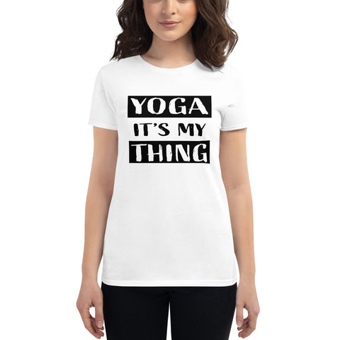 Women's Yoga Exercise Shirt (Yoga It's My Thing) - Twin Carbon Clothing Co.