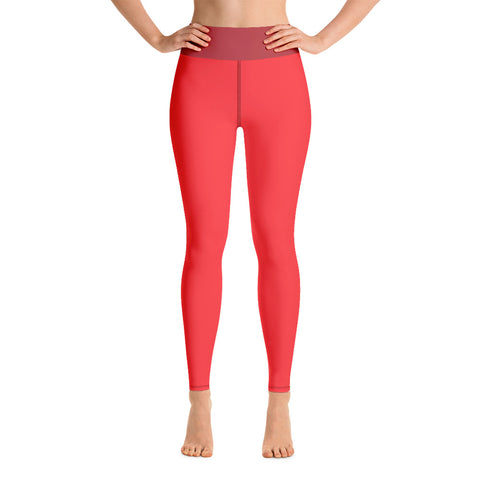 Salmon Yoga Leggings - Twin Carbon Clothing Co.