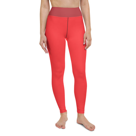 Salmon Yoga Leggings (Pockets) - Twin Carbon Clothing Co.