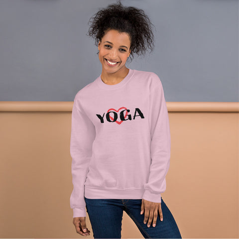 Exercise Yoga Heart Design (Sweatshirt) - Twin Carbon Clothing Co.