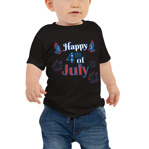 Happy 4th of July Baby Jersey Short Sleeve Tee - Twin Carbon Clothing Co.
