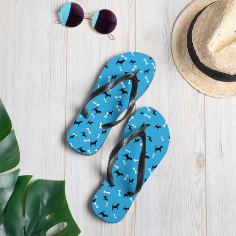 Blue Dog Flip-Flops - Twin Carbon Clothing Co.
