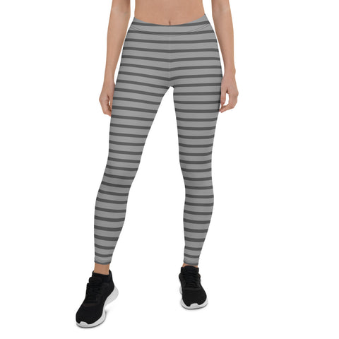 Gray Stripes (1) Leggings - Twin Carbon Clothing Co.
