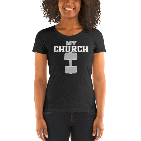 My Church Ladies' short sleeve t-shirt - Twin Carbon Clothing Co.