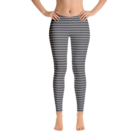 Gray Stripes (2) Leggings - Twin Carbon Clothing Co.