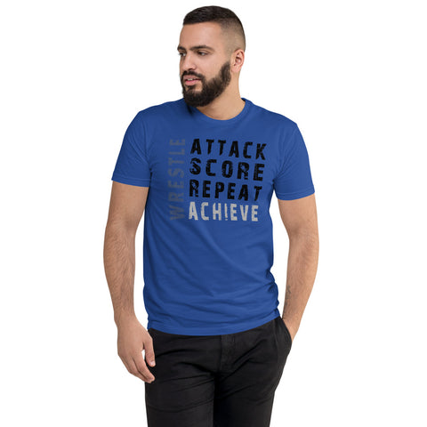 Wrestling Achieve T-shirt - Twin Carbon Clothing Co.