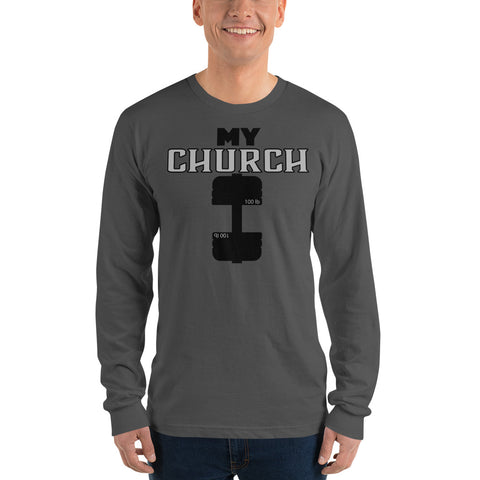 My Church Long sleeve t-shirt - Twin Carbon Clothing Co.