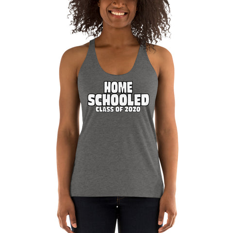 Home Schooled Women's Racerback Tank - Twin Carbon Clothing Co.