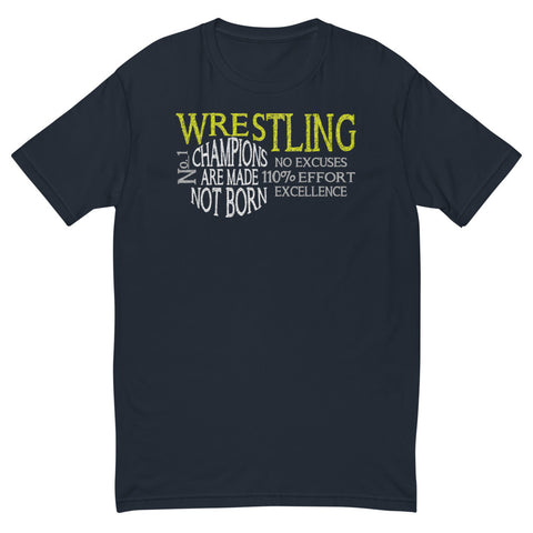 Wrestling Design 1 T-shirt - Twin Carbon Clothing Co.
