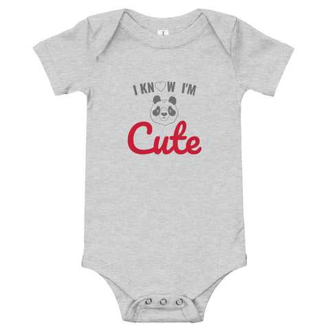 I'm Cute Baby Onesie - Twin Carbon Clothing Co.