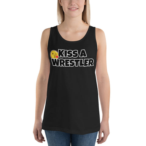Kiss a Wrestler Tank Top - Twin Carbon Clothing Co.