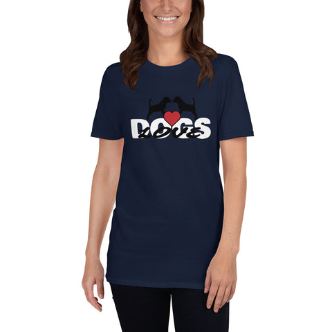 Dogs(Love Dogs CT1) Short-Sleeve Unisex T-Shirt - Twin Carbon Clothing Co.