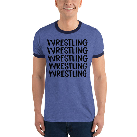 Wrestling Ringer T-Shirt - Twin Carbon Clothing Co.