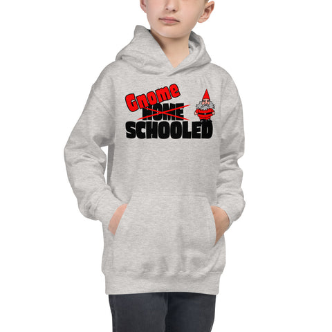 Gnome Schooled Kids Hoodie - Twin Carbon Clothing Co.