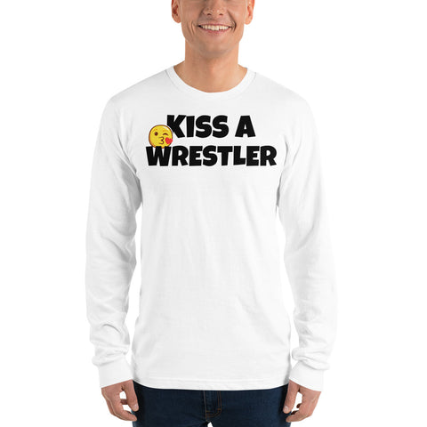 Kiss a Wrestler Long sleeve t-shirt - Twin Carbon Clothing Co.