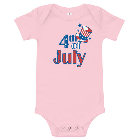 4th of July (5) Baby Onesie - Twin Carbon Clothing Co.