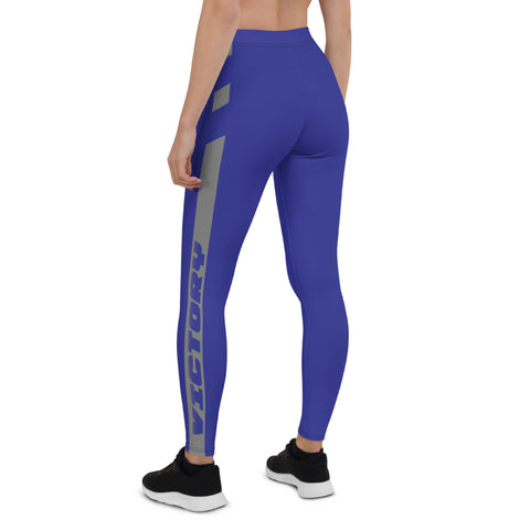 Blue Victory Leggings - Twin Carbon Clothing Co.