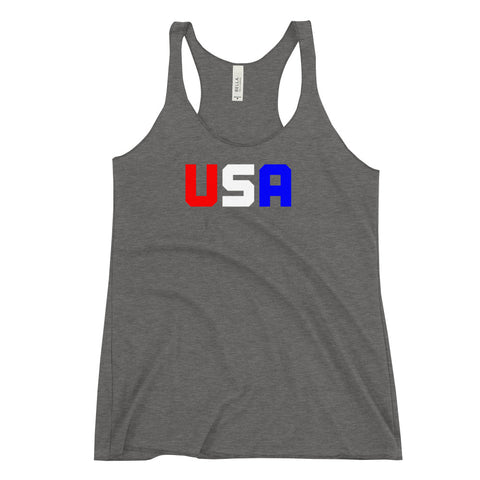 USA Women's Racerback Tank - Twin Carbon Clothing Co.