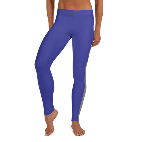 Blue/Gray Leggings - Twin Carbon Clothing Co.