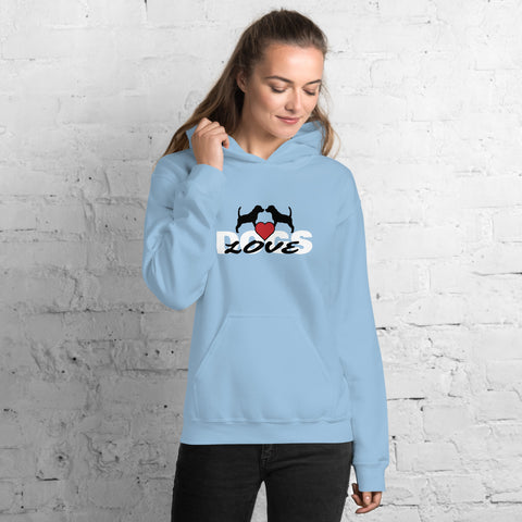 Dogs (Love Dogs) Unisex Hoodie - Twin Carbon Clothing Co.