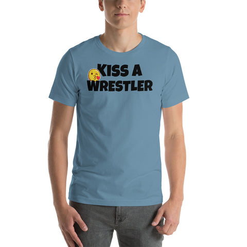Kiss a Wrestler t-shirt - Twin Carbon Clothing Co.
