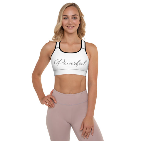 Powerful Padded Sports Bra - Twin Carbon Clothing Co.
