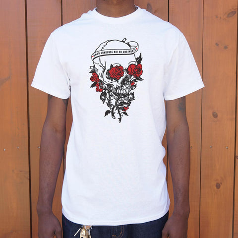 Skull And Roses T-Shirt (Mens) - Twin Carbon Clothing Co.