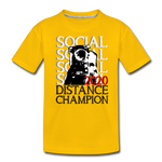 Social Distance Champion 2020 Kids' Premium T-Shirt - Twin Carbon Clothing Co.