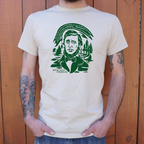 Henry David Thoreau Quote T-Shirt (Mens) - Twin Carbon Clothing Co.