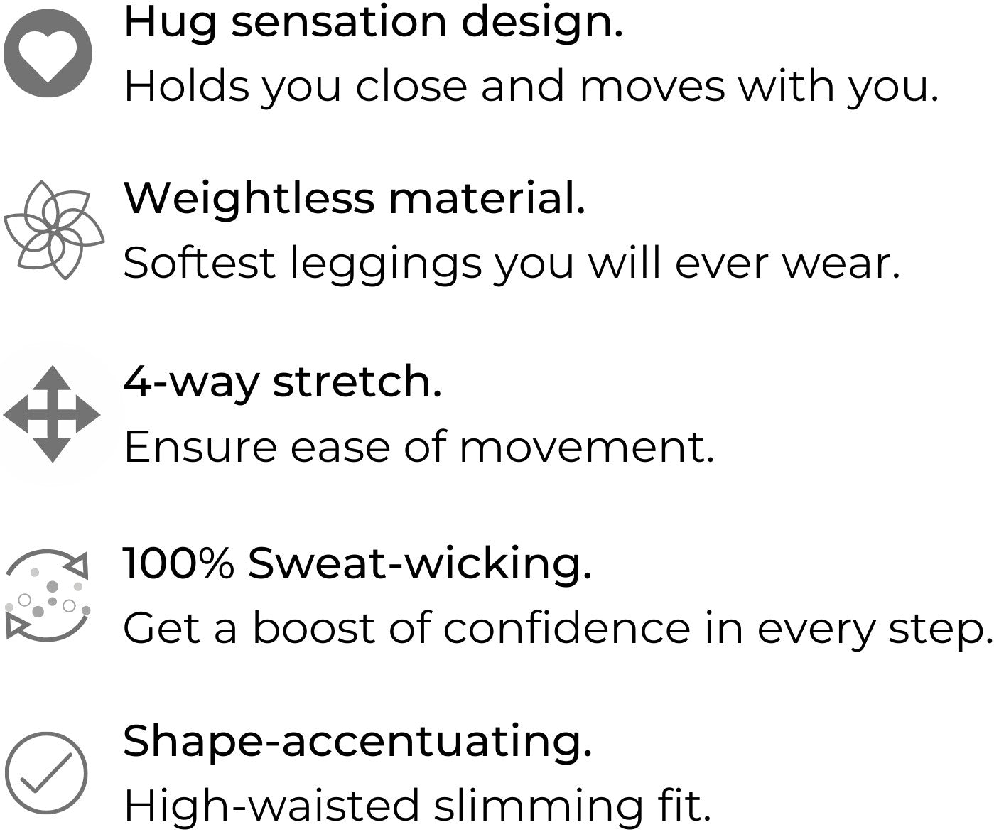 Women's Activewear Leggings - Thigh Shaping Yoga Pants