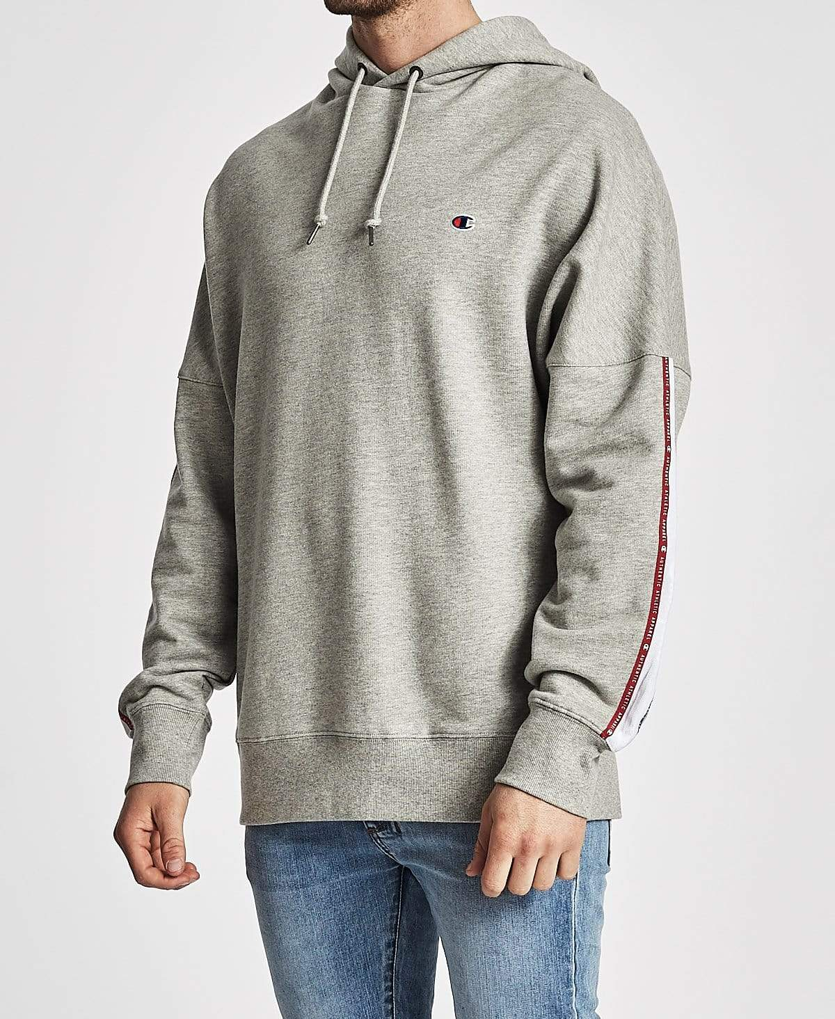 Champion ID Collection Tape Hoodie Oxford Heather