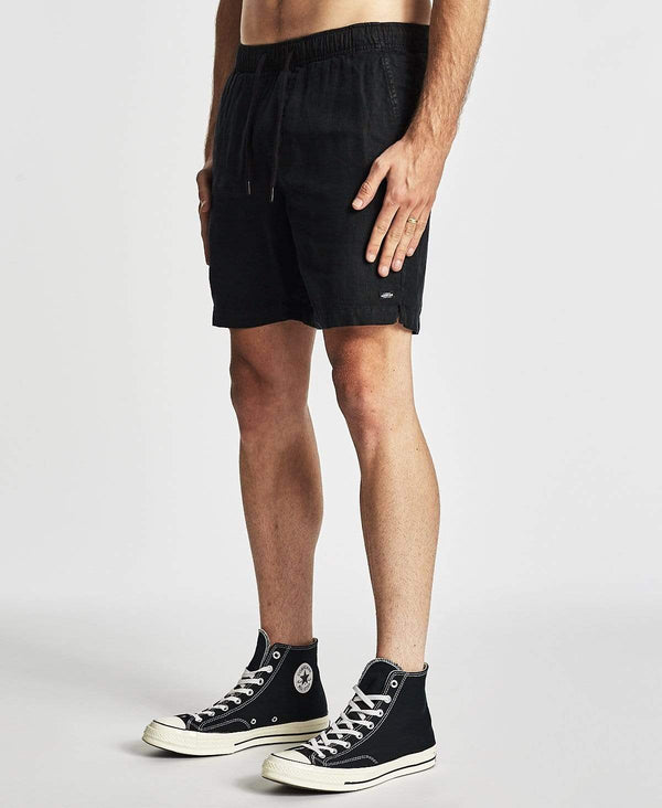 Industrie The Marina Linen Shorts Black
