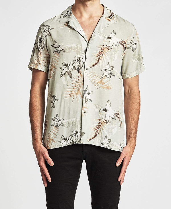 Industrie The Mauritius Short Sleeve Shirt Stone