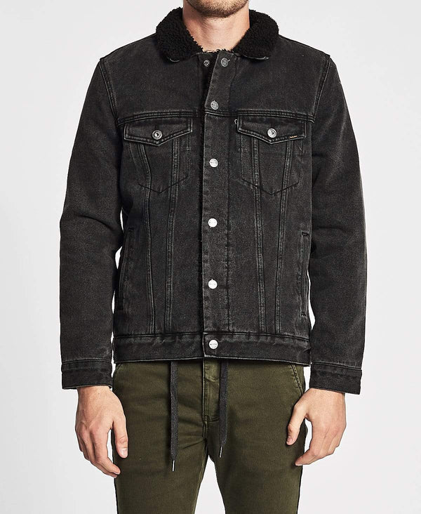Industrie The Stuyvesant Sherpa Jacket Washed Black