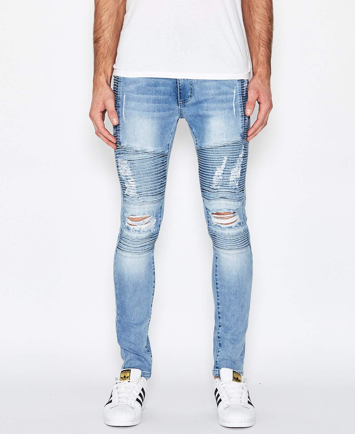 Kiss Chacey Brooklyn Biker Jeans Defiance Blue