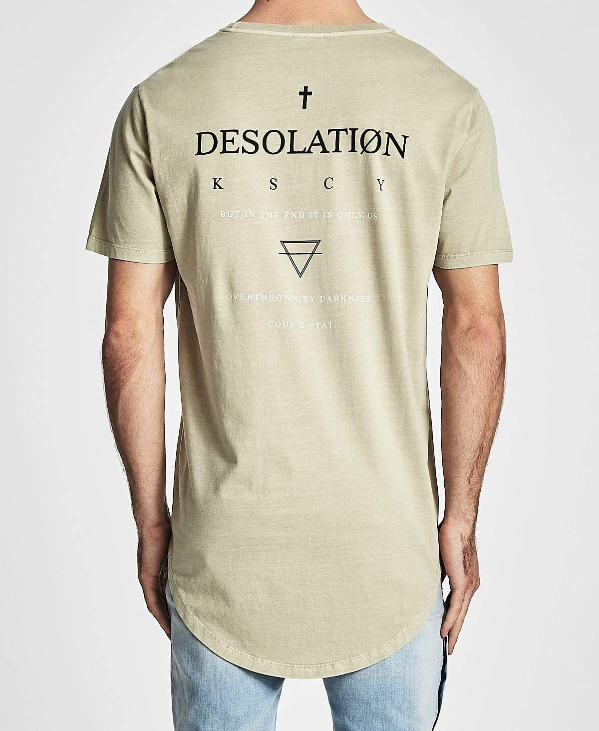Kiss Chacey Desolation Dual Curved Hem T-Shirt Pigment Sand