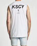 Kiss Chacey Face Step Hem Muscle Tee White