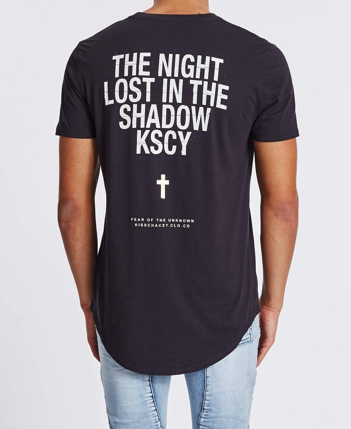 Kiss Chacey Lost In The Shadows Baseball T-Shirt Graphite