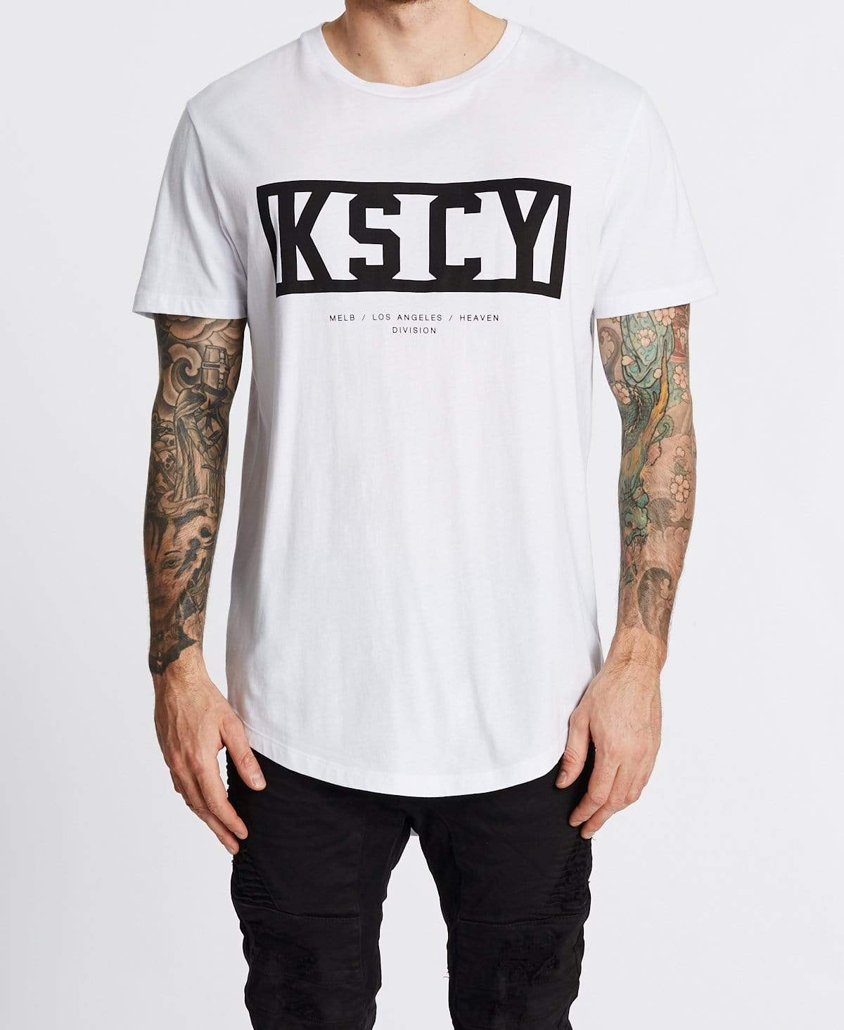 Kiss Chacey Move On Dual Curved T-Shirt White
