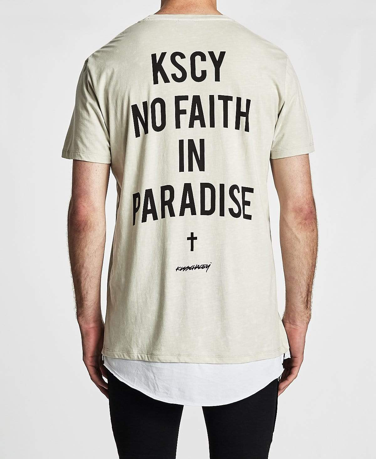 Kiss Chacey Paradise Layered Hem Relaxed Fit T-Shirt Acid Stone