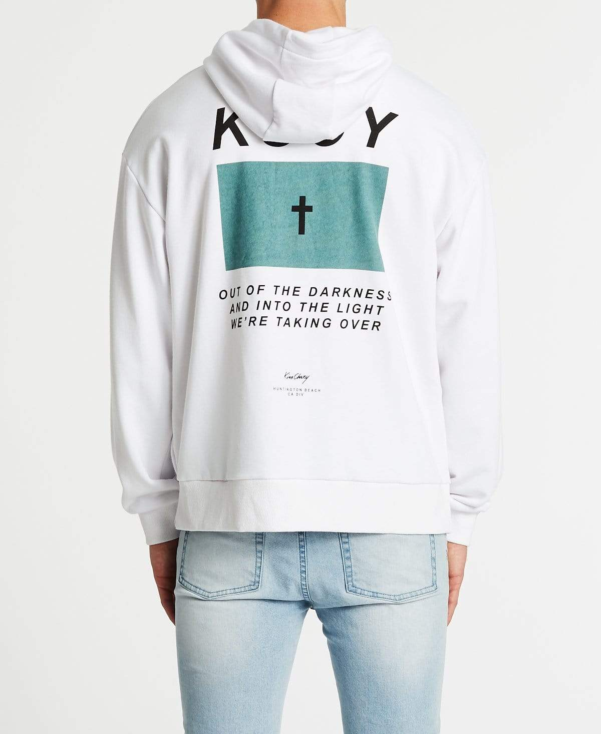 Kiss Chacey Sighted Relaxed Fit Hoodie White