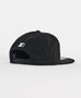 Starter Black Label Grid Flat Peak Snapback Black