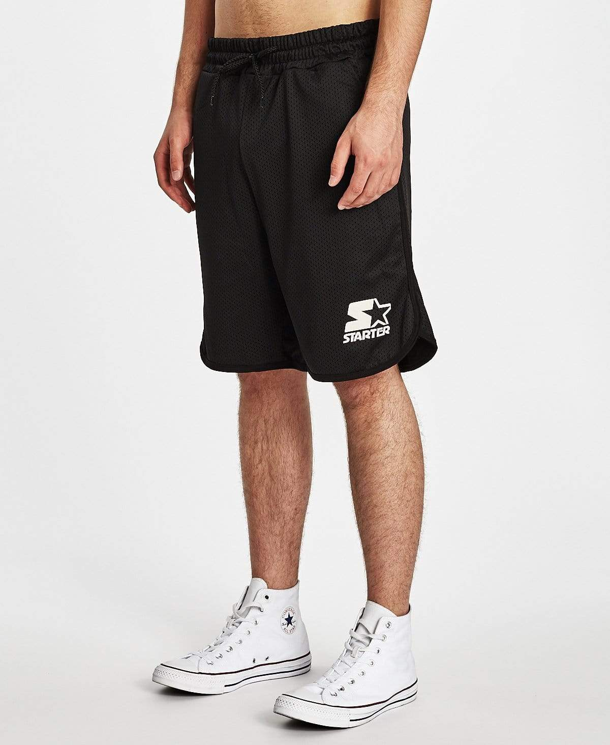 Starter Black Label Zone Mesh Logo Shorts Black