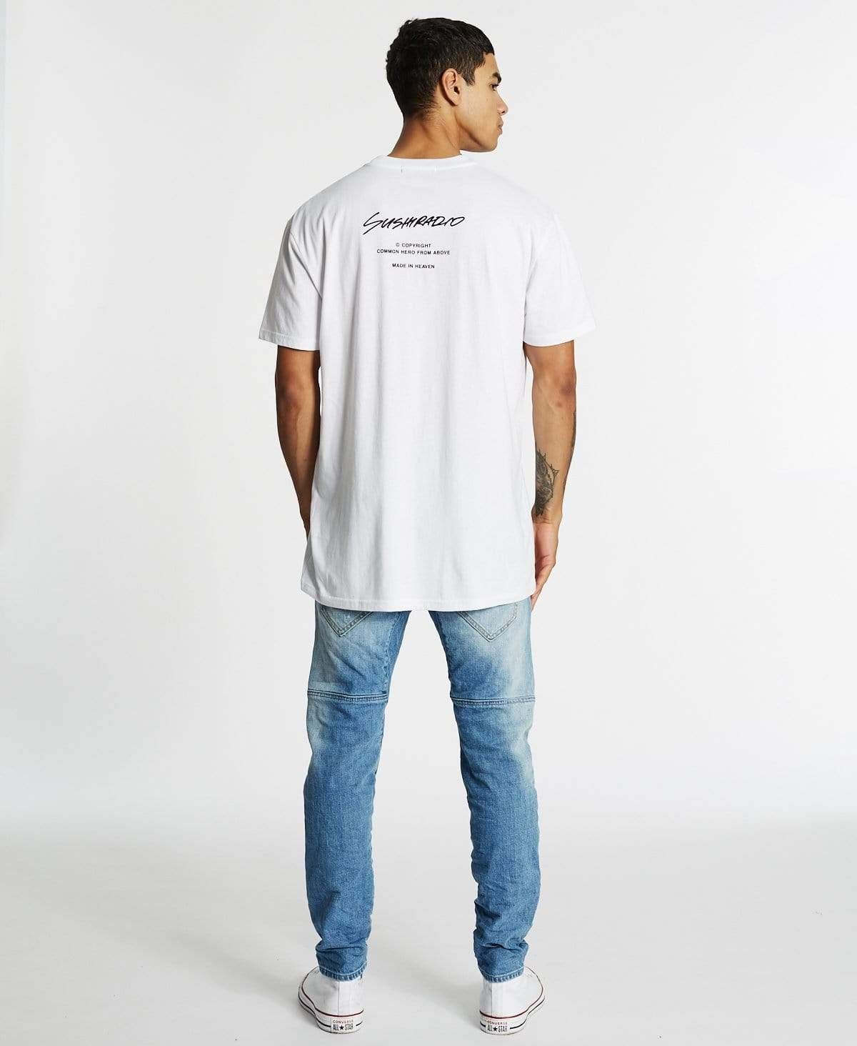 Sushi Radio Proprietor Relaxed Fit T-Shirt White