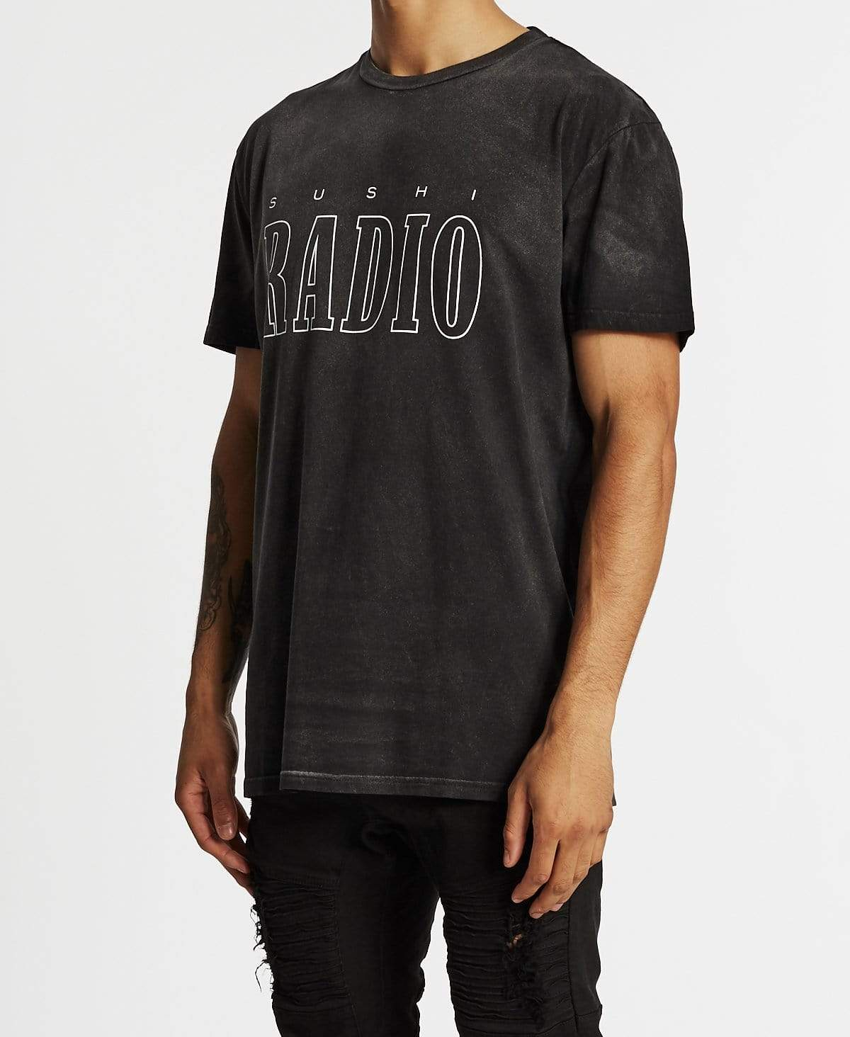 Sushi Radio Rewrite History Relaxed Fit T-Shirt Metal Black