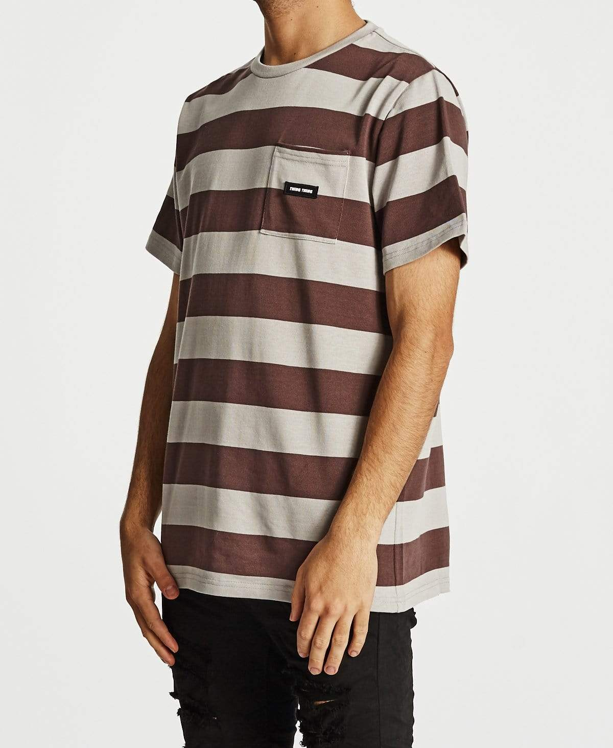 Thing Thing Max Pocket T-Shirt Bruise Stripe