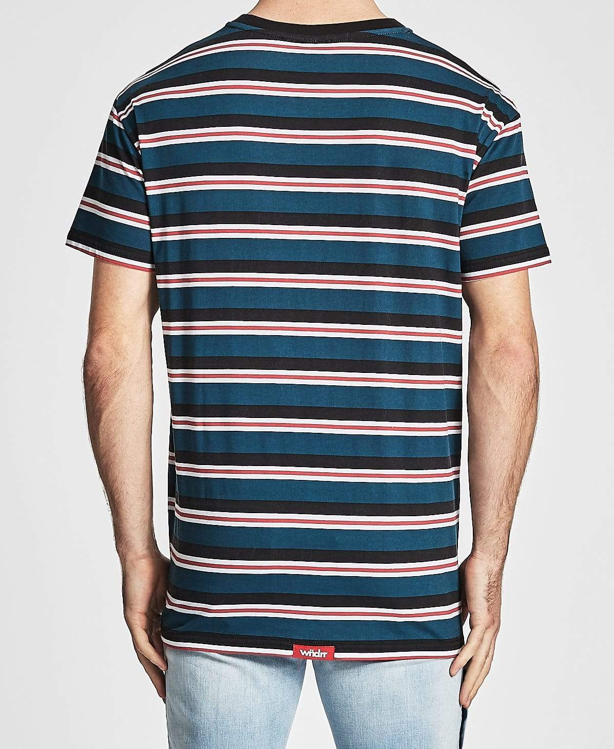 WNDRR Recess Stripe Custom Fit T-Shirt Multi Colour